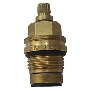 Flat face radiator valve side view